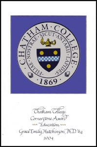 Chatham University Matt and Decal award